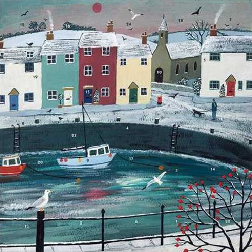 Christmas Fishing Village Small Advent Calendar