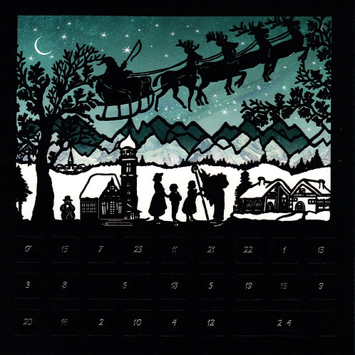 Silhouette Advent Calendar Card