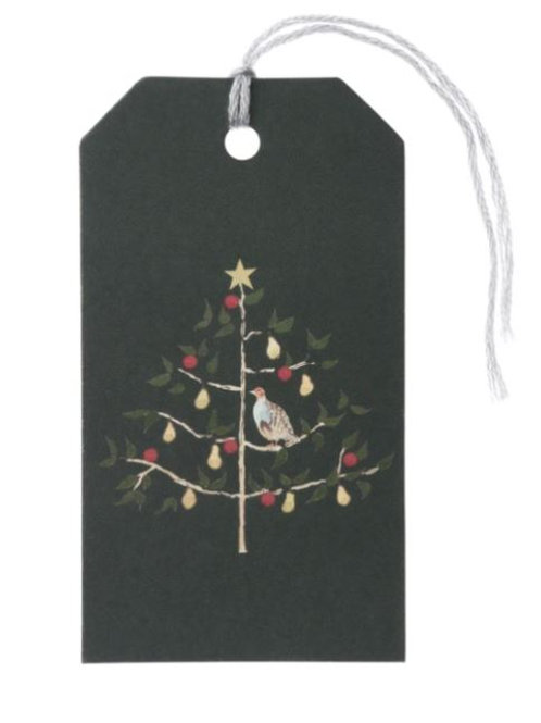 Sophie Allport Partridge In A Pear Tree Christmas Tags Set Of 8
