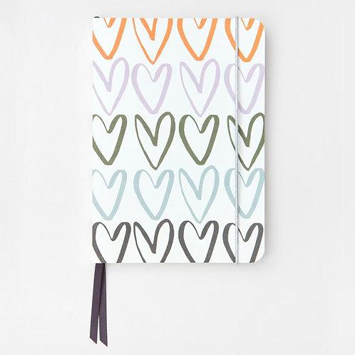 Caroline Gardner Rainbow Heart A5 Notebook