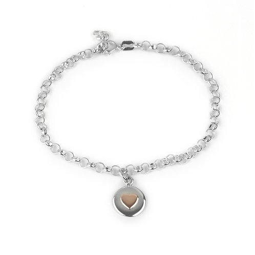 Rose Gold Love Circle Bracelet