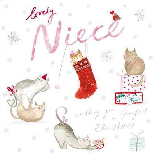Niece Purrfect Christmas Card