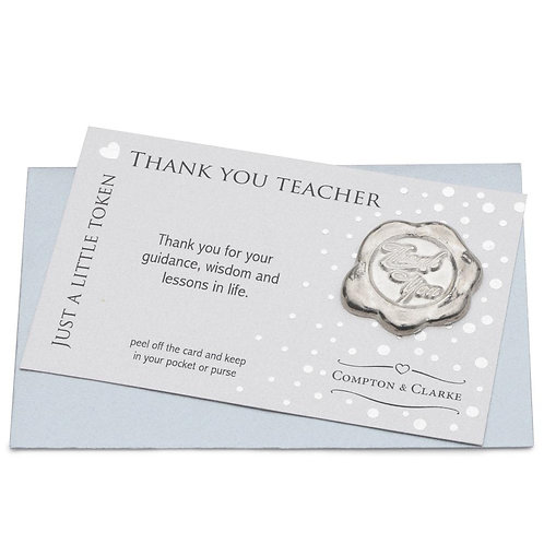 Thank You Teacher Pocket Charm