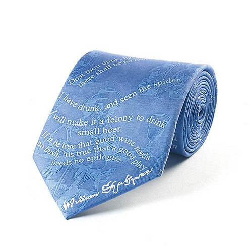 Shakespeare Drinking Tie