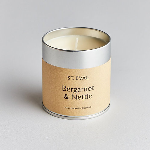 St Eval Bergamont And Nettle Scented Tin Candle