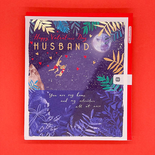 Husband You Are My Home Valentines Card