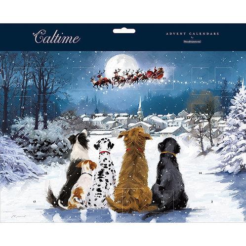 Dogs Watching Santa Advent Calendar