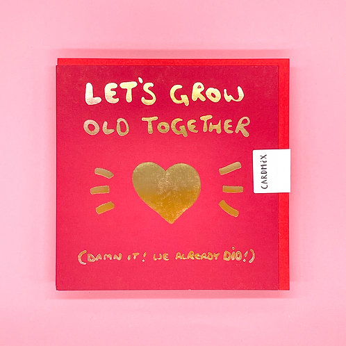 Let's Grow Old Together Valentines Card