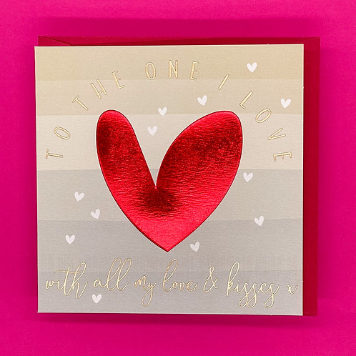 One I Love Heart Valentines Card