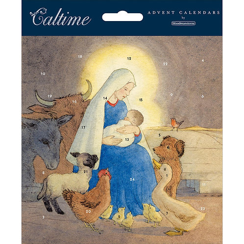 Madonna And Child Advent Calendar Card