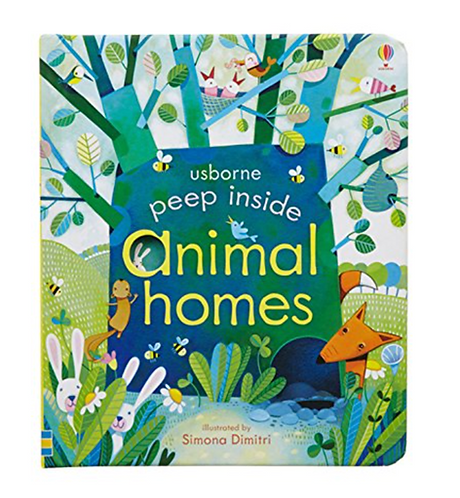 Peep Inside Animal Homes Book