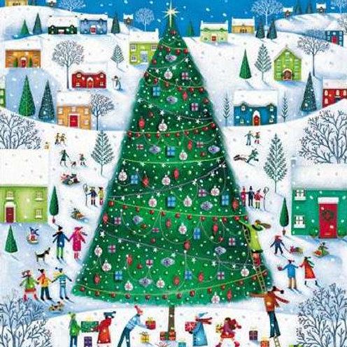 Christmas Tree Christmas Card pack of 5
