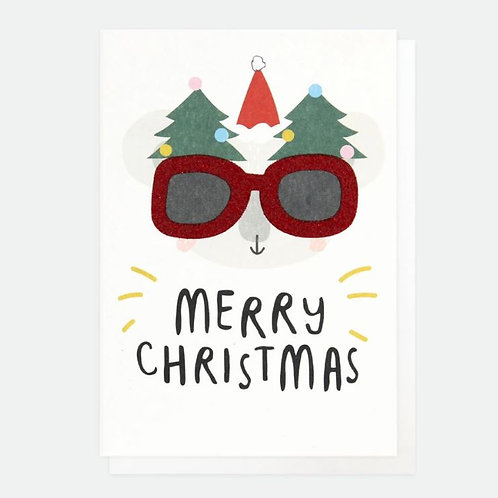 Koala with Funny Glasses Christmas Card Pack of 10