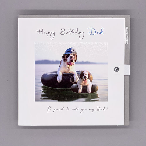 Dogs on Water Dad Birthday Card