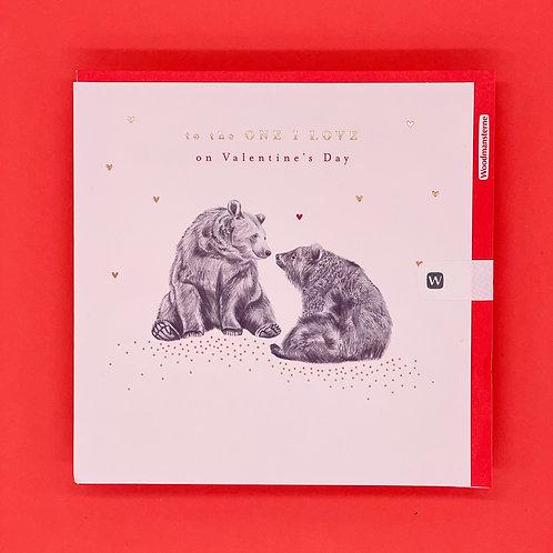 One I Love Bears Valentines Card