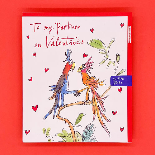 Quentin Blake Parrots Valentines Card