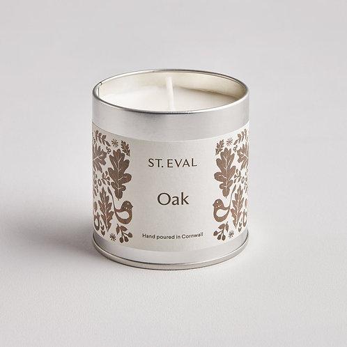 St Eval Folk Oak Tin Candle
