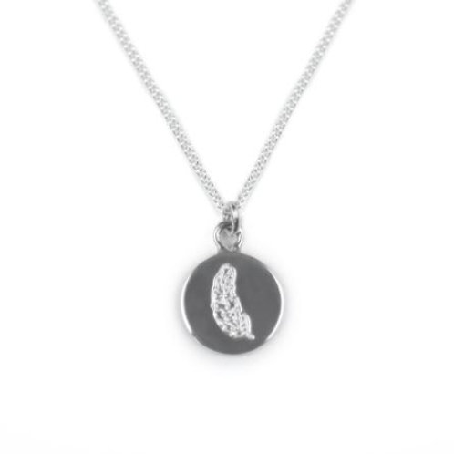 Angel Feather Silver Necklace.