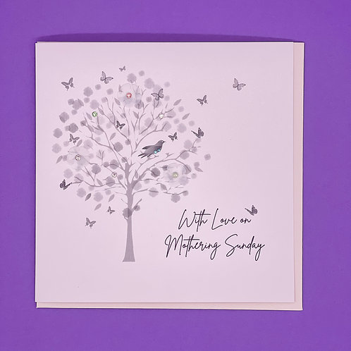 Mother's Day Card Mothering Sunday Tree