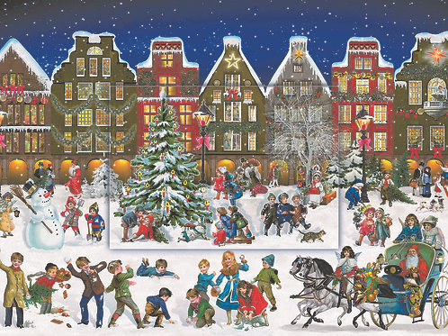 Winter Evening In The Town Advent Calendar