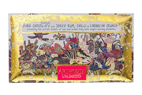 Chocolate Bar Angels Of The Deep Dark Chocolate Spiced Rum, Chilli & Crunch 100g
