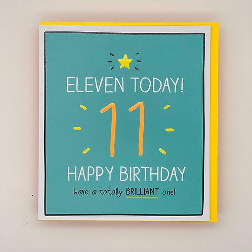 11th Birthday Totally Brilliant Card