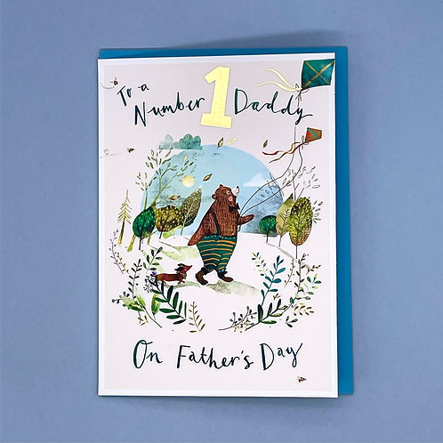 Father's Day Card Number 1 Daddy