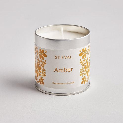 St Eval Folk Amber Tin Candle