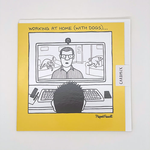Working At Home (With Dogs) Card