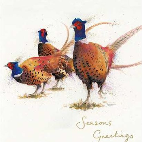 Pheasants Christmas Card Pack of 5