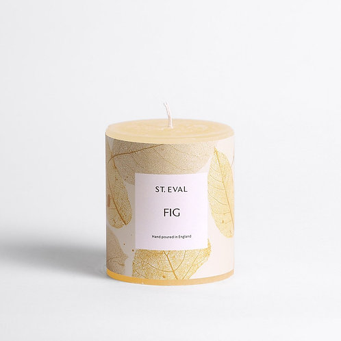 St Eval Garden Of Eden Fig Pillar Candle