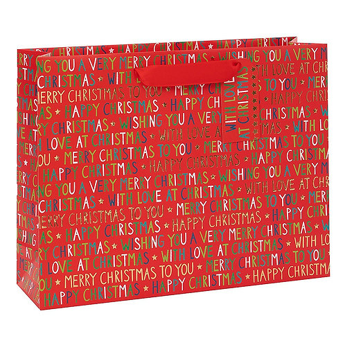 Merry Christmas Large Christmas Gift Bag