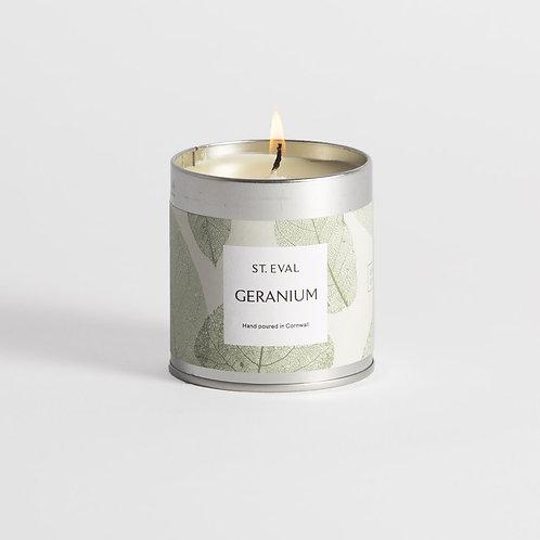 St Eval Garden Of Eden Geranium Scented Tin Candle