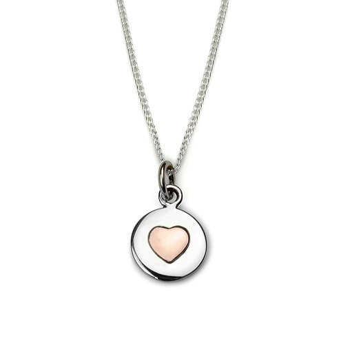 Rose Gold Heat Circle Love Necklace