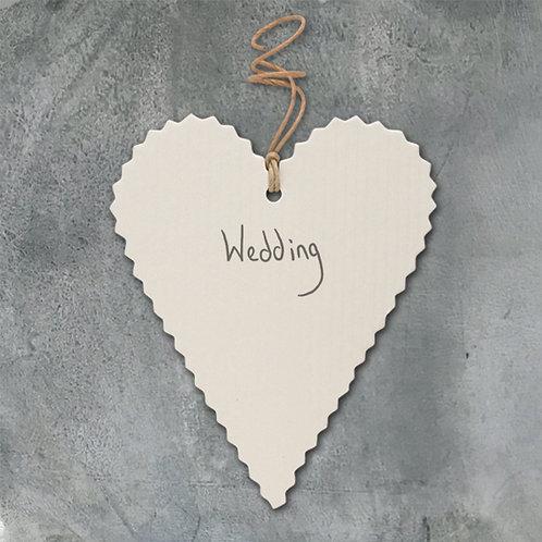 Heart Shaped Wedding Gift Tag