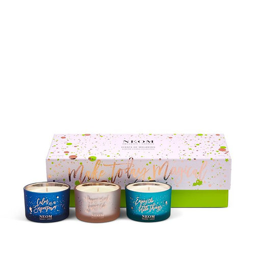 NEOM Scents Of Wellbeing Candles Gift Set