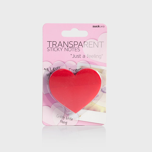Transparent Heart Sticky Notes
