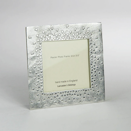 """Floating Hearts Pewter Photo Frame  3.5 X 3.5"""""""