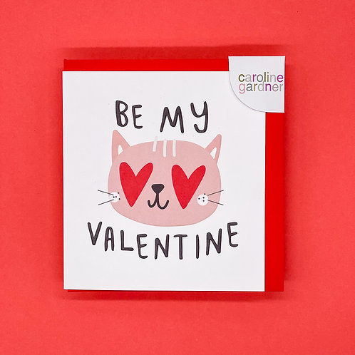 Be My Valentine Cat Valentines Card