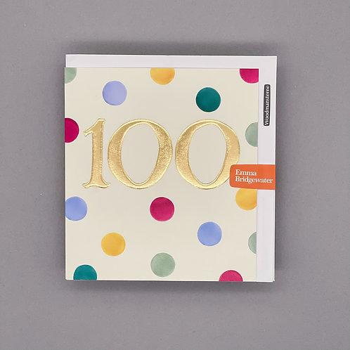 100th Birthday Emma Bridgewater Card