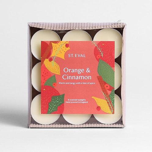 St Eval Orange And Cinnamon Scented Tealights