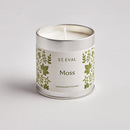 St Eval Folk Moss Tin Candle