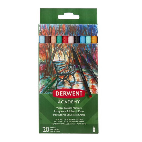 Derwent Academy Water Soluble Markers Set Of 20