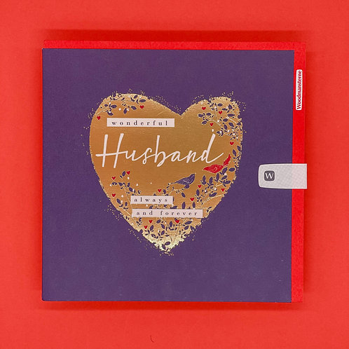 Husband Always And Forever Valentines Card