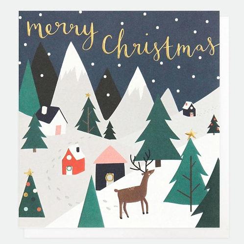 Snowy Scene Christmas Card Pack of 8