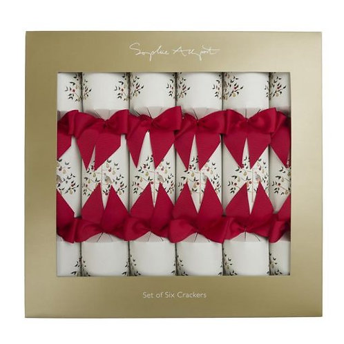 Sophie Allport Partridge In A Pear Tree Christmas Crackers Set Of 6