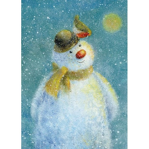 Fuzzy Snowman Christmas Card Pack of 8