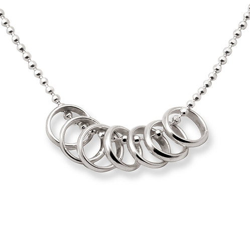 Lucky 7 Rings Necklace