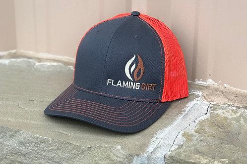 Flaming Dirt custom Richardson 112 Trucker Cap (Stacked Logo)