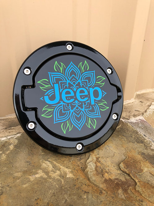Single Color Custom Image Jeep Wrangler JK Gas Cap